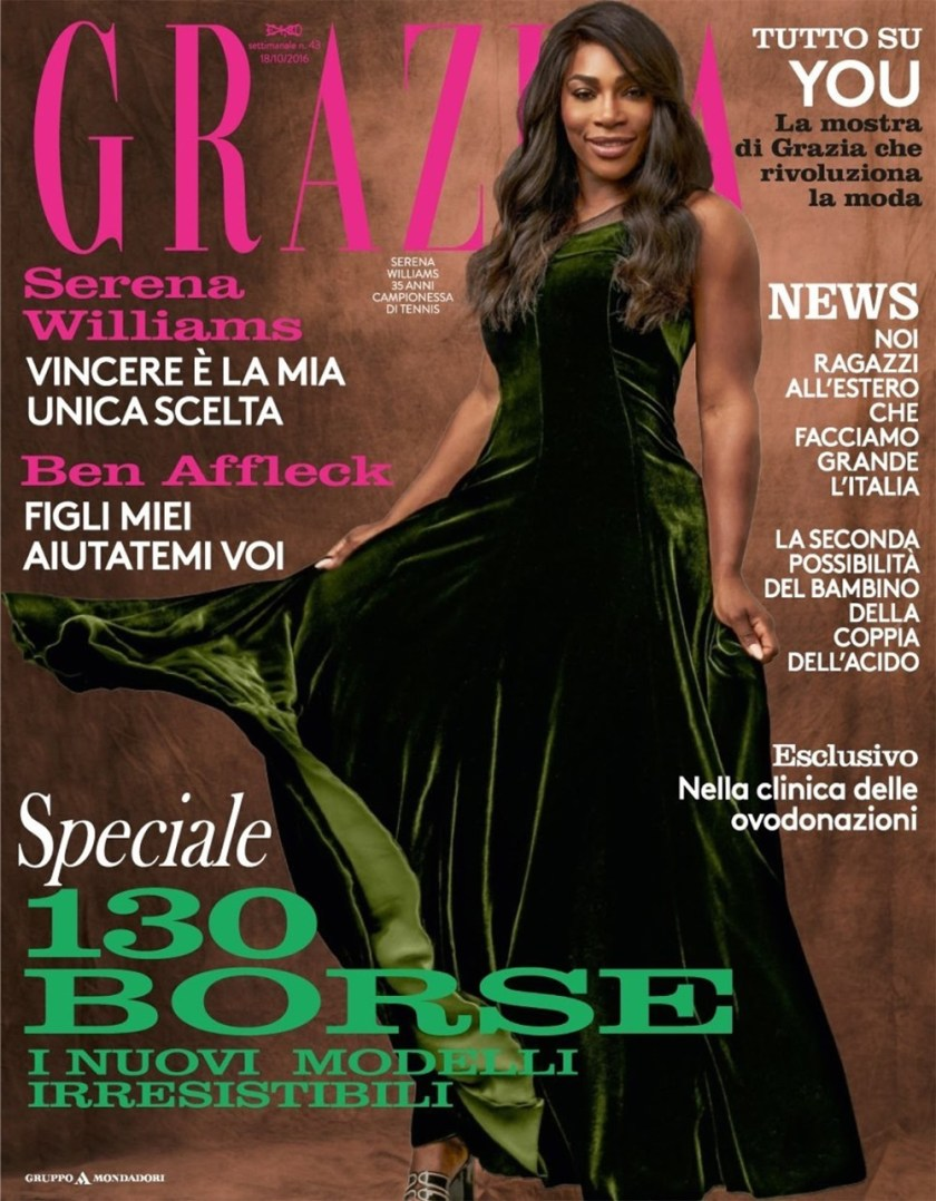 GRAZIA ITALIA Serena Williams by Stefano Moro Van Wyk. Michele Bagnara, October 2016, www.imageamplified.com, Image Amplified1