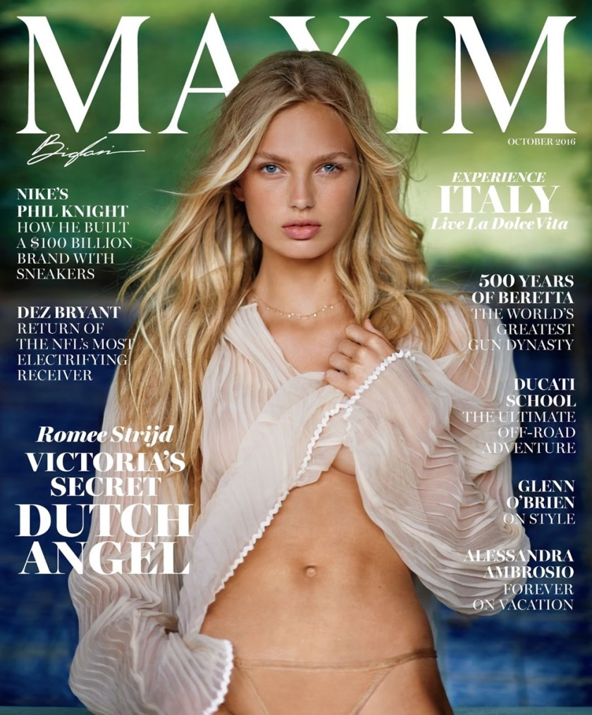 MAXIM MAGAZINE Romee Strijd by Gilles Bensimon. Caroline Christiansson, October 2016, www.imageamplified.com, Image Amplified13