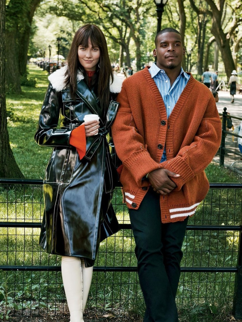 VOGUE MAGAZINE Karlie Kloss & Cam Newton by Gregory Harris. Sara Moonves, October 2016, www.imageamplified.com, Image Amplified5