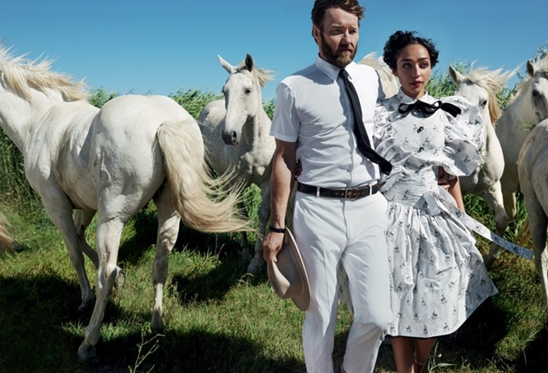 VOGUE MAGAZINE Ruth Negga & Joel Edgerton by Mario Testino. Camilla Nickerson, November 2016, www.imageamplified.com, Image Amplified1