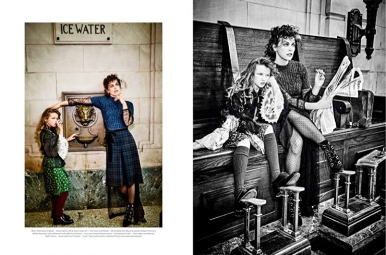 VS MAGAZINE Milla Jovovich & Ever Gabo Jovovich-Anderson by Ellen von Unwerth. Vibe Dabelsteen, Fall 2016, www.imageamplified.com, Image Amplified (7)