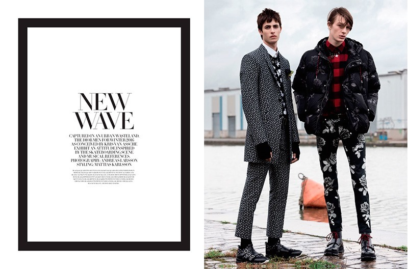 DIOR MAGAZINE Dominik Hahn, Oscar Kindelan & Finnlay Davis by Andreas Larsson. Mattias Karlsson, Fall 2016, www.imageamplified.com, Image Amplified1