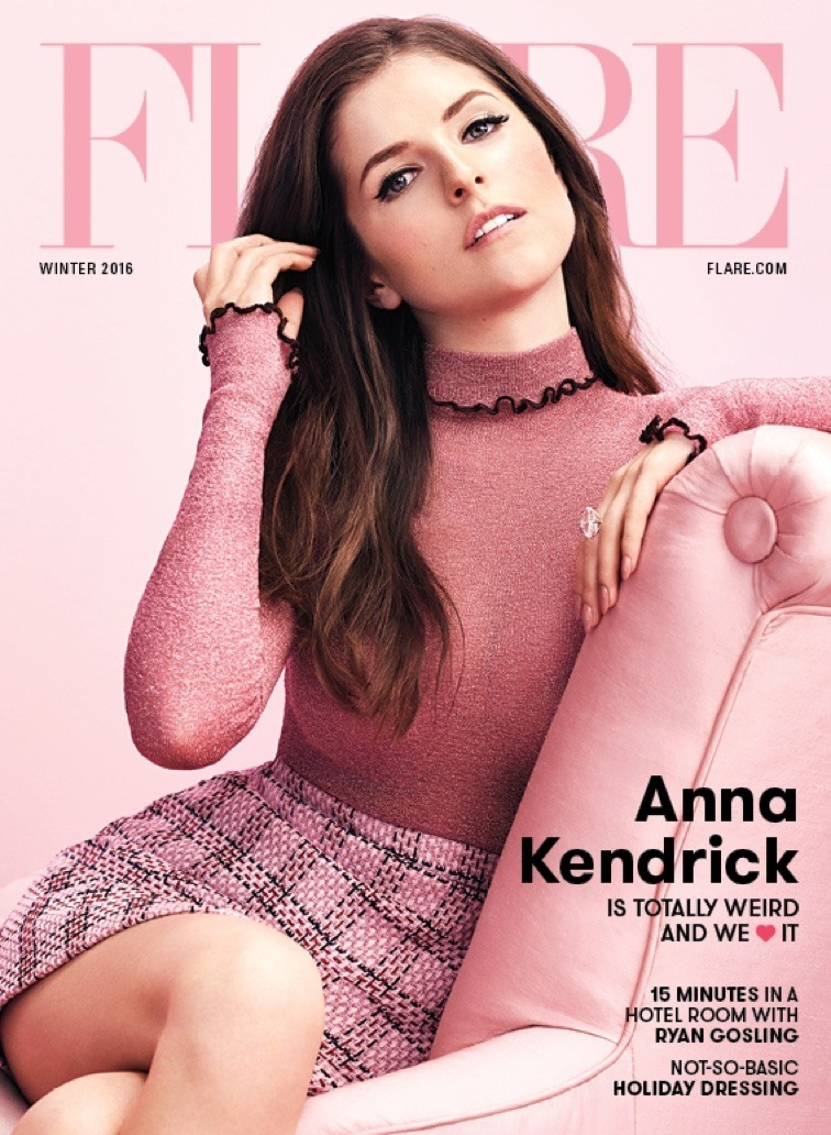 FLARE MAGAZINE Anna Kendrick by Nino Munoz. Johnny Wujek, Fall 2016, www.imageamplified.com, image Amplified2
