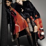 VOGUE ITALIA: Jessica Stam & Chanel Iman by Michel Comte