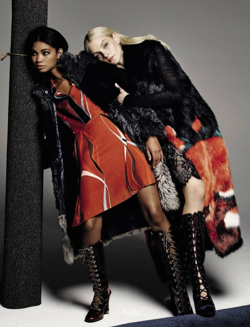 VOGUE ITALIA Jessica Stam & Chanel Iman by Michel Comte. Giulio Martinelli, Aya Ko, November 2016, www.imageamplified.com, Image Amplified1