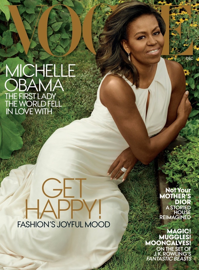 VOGUE MAGAZINE Michelle Obama by Annie Leibovitz. Tonne Goodman, December 2016, www.imageamplified.com, Image Amplified1