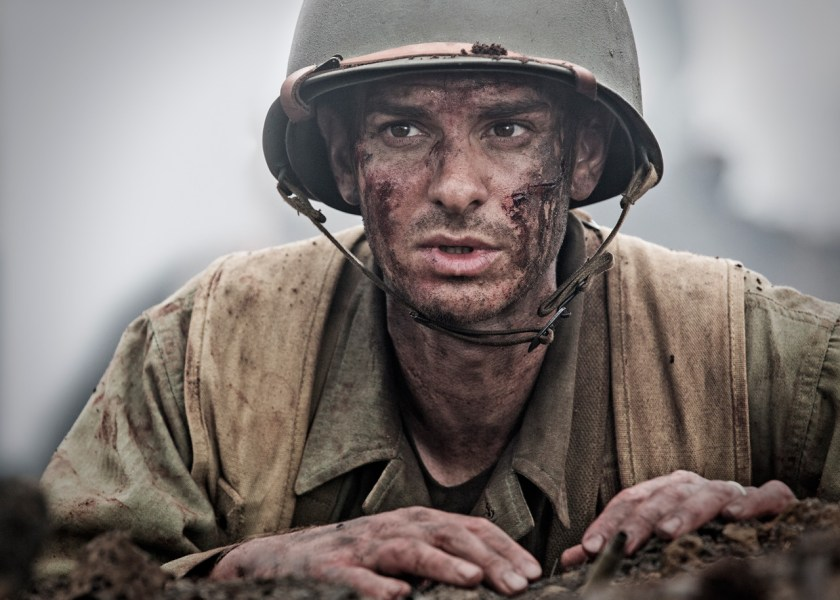 Andrew Garfield gives a topnotch performance in Hacksaw Ridge, and lands a place as an Best Actor Oscar forerunner. Image Amplified www.imageamplified.com