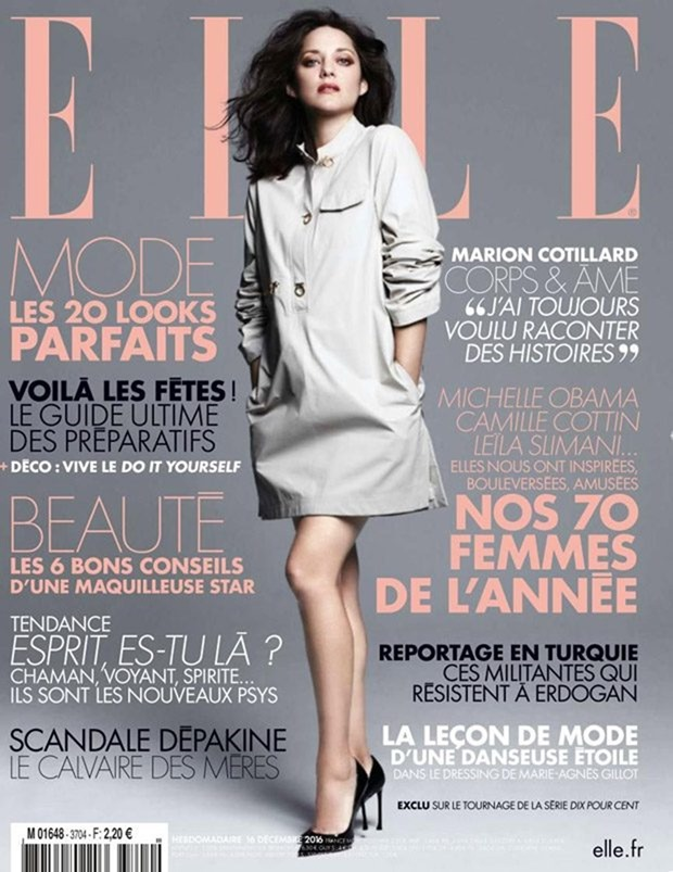 ELLE FRANCE Mario Cotillard by Ben hassett. Georgia Pendlebury, December 2016, www.imageamplified.com, Image Amplified1