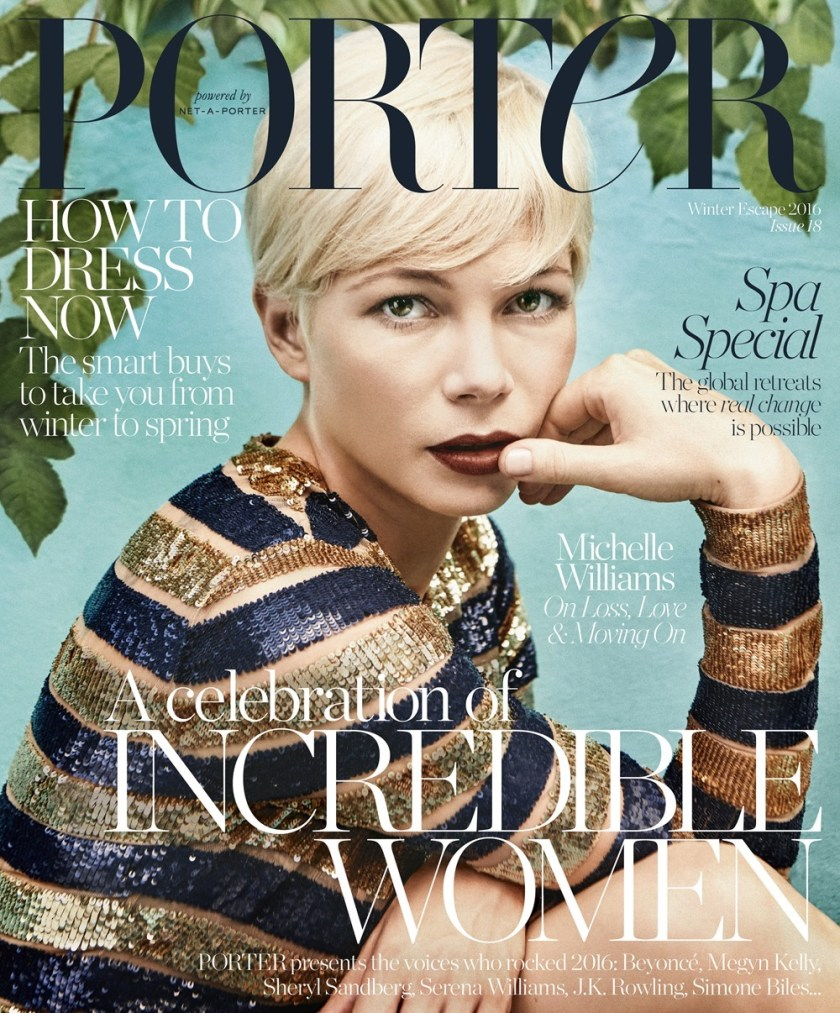 PORTER MAGAZINE Michelle Williams by Ryan McGinley. Kate Young, Fall 2016, www.imageamplified.com, Image Amplified12