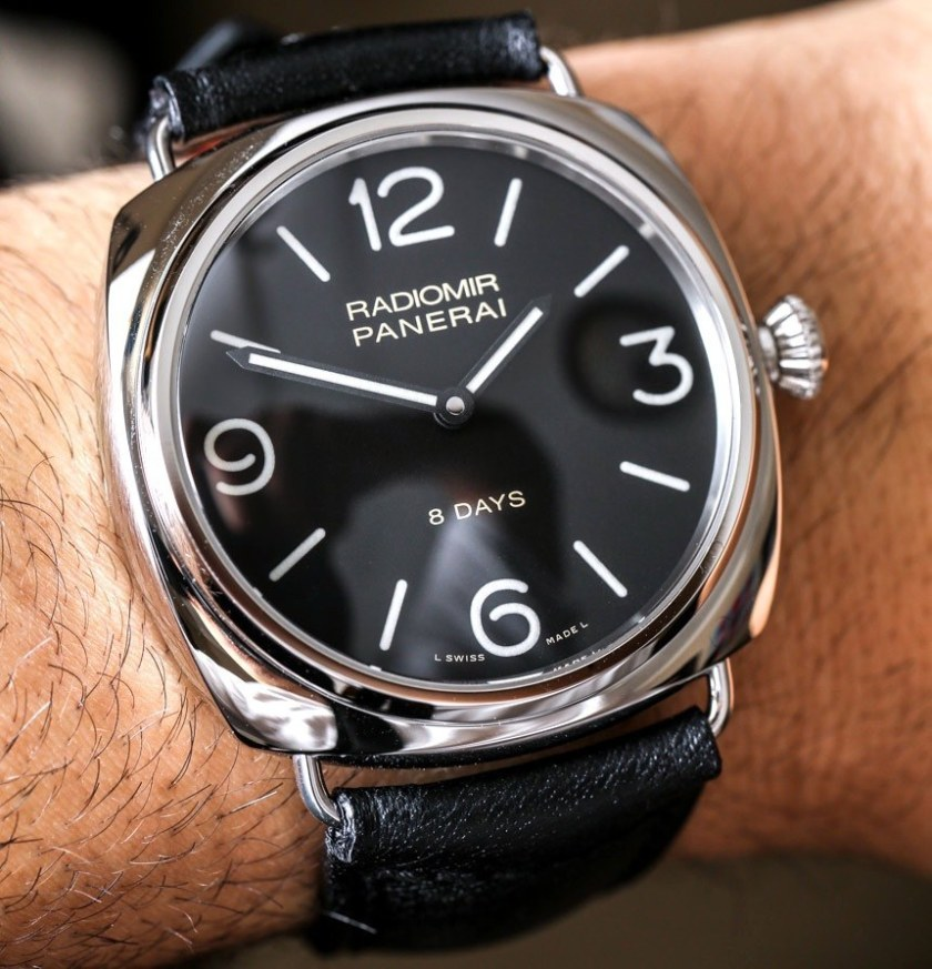 A very faithful revival of a classic Panerai watch, the Radiomir.Image Amplified www.imageamplified.com