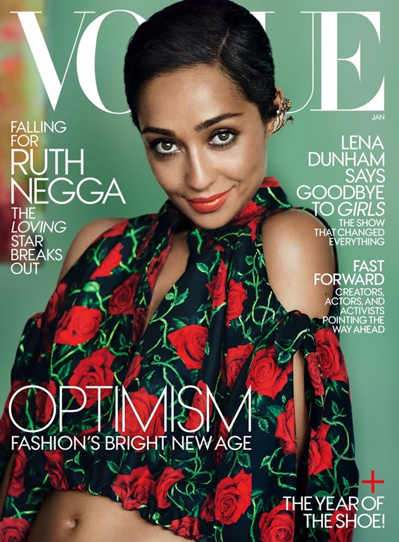 VOGUE MAGAZINE Ruth Negga by Mario Testino. Tonne Goodman, January 2017, www.imageamplified.com, Image Amplified1
