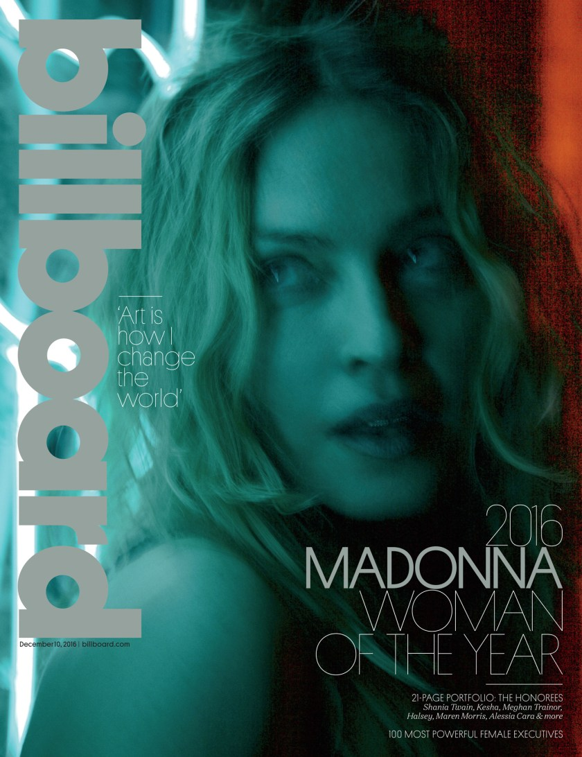 Madonna is Billboard's 2016 Woman of the Year. Image Amplified www.imageamplified.com