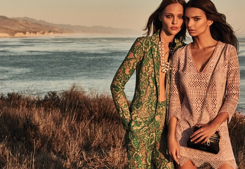 CAMPAIGN Emily Ratajkowski & Sasha Pivovarova for TwinSet Spring 2017 by Giampaolo Sgura. www.imageamplified.com, Image Amplified1