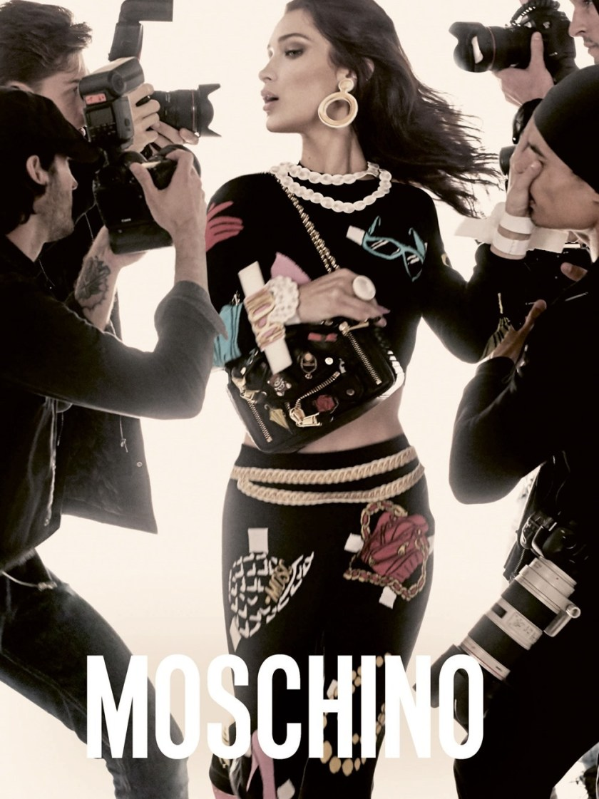 CAMPAIGN Gigi Hadid & Bella Hadid for Moschino Spring 2017 by Steven Meisel. Carlyne Nerf De Dudzeele, www.imageamplified.com, Image Amplified3