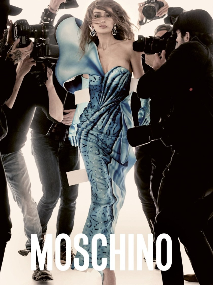 CAMPAIGN Gigi Hadid & Bella Hadid for Moschino Spring 2017 by Steven Meisel. Carlyne Nerf De Dudzeele, www.imageamplified.com, Image Amplified2