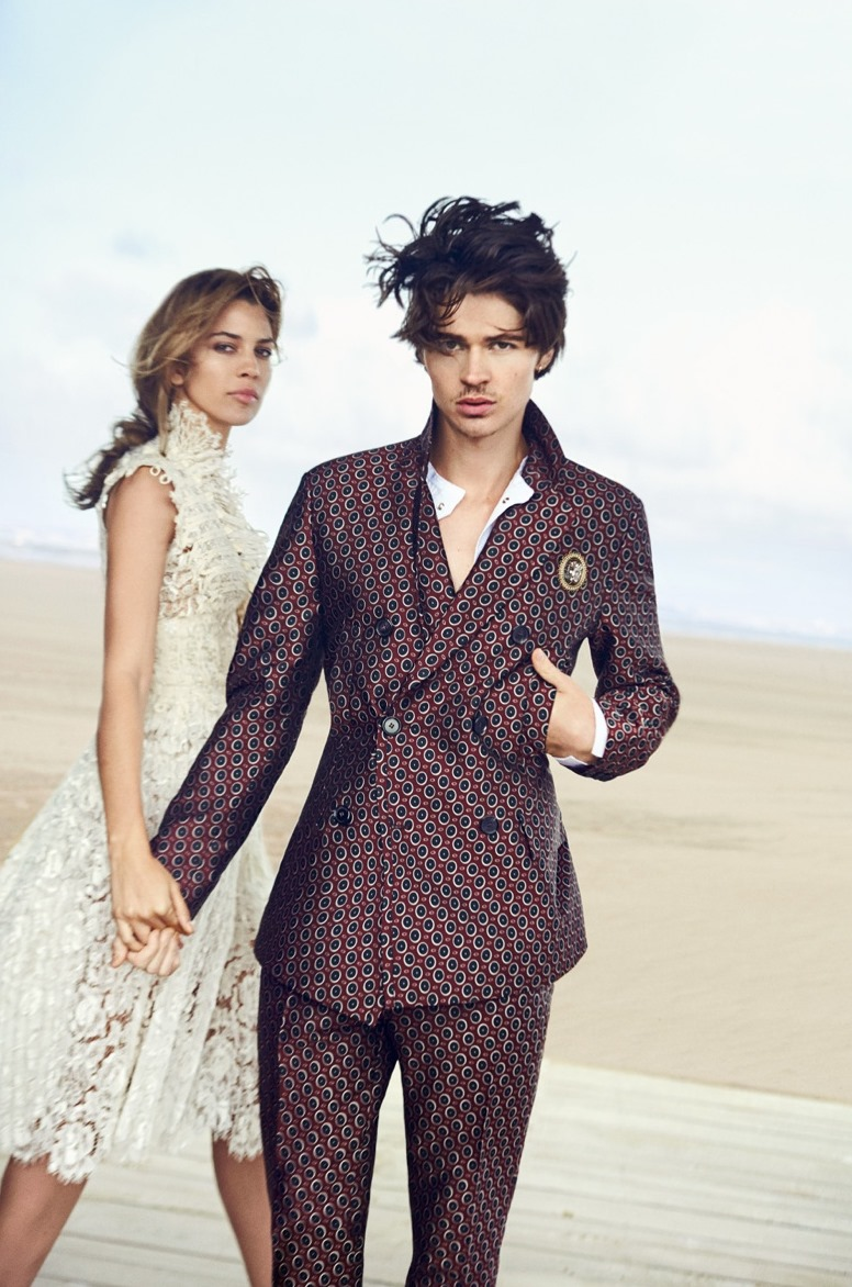 CAMPAIGN Will Peltz & Kenya Kinski Jones for Ermanno Scervino Spring 2017 by Peter Lindbergh. www.imageamplified.com, Image Amplified1
