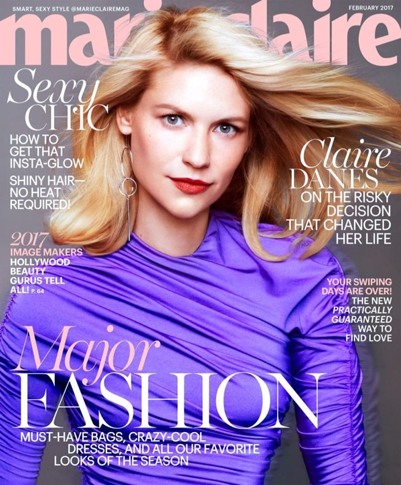 MARIE CLAIRE MAGAZINE Claire Danes by Txema Yeste. Alison Edmond, February 2017, www.imageamplified.com, Image Amplified1