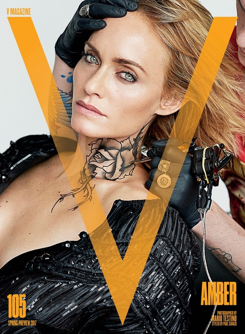 PREVIEW Lara Stone, Joan Smalls, Carolyn Murphy, Amber Valletta & Ellen Rosa for V Magazine, Spring 2017 by Mario Testing. Paul Cavaco, www.imageamplified.com, Image Amplified1