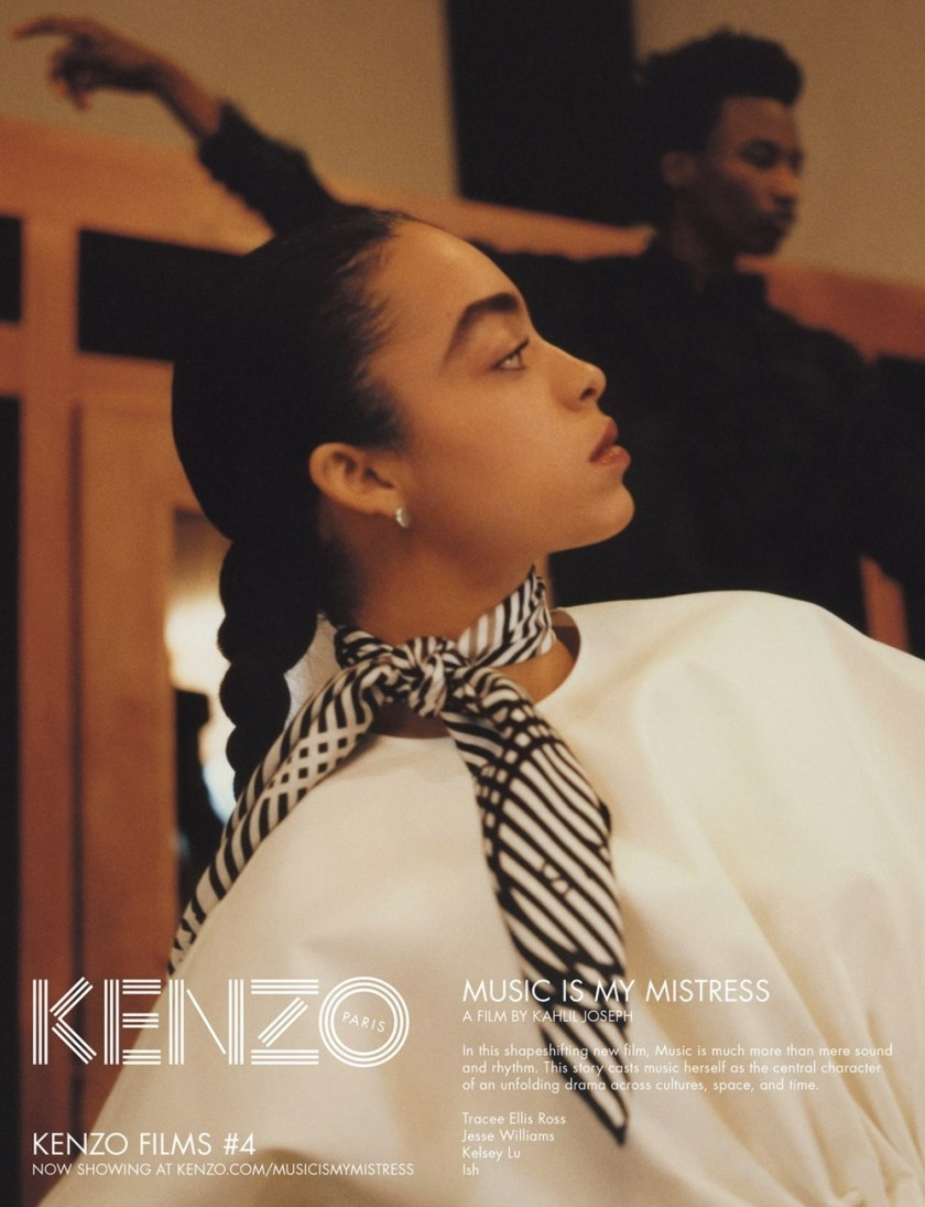 CAMPAIGN Tracee Ellis Ross, Jesse Williams & Kelsey Lu for Kenzo Spring 2017 by Durimel. Julia Sara Jamois, www.imageamplified.com, Image Amplified8