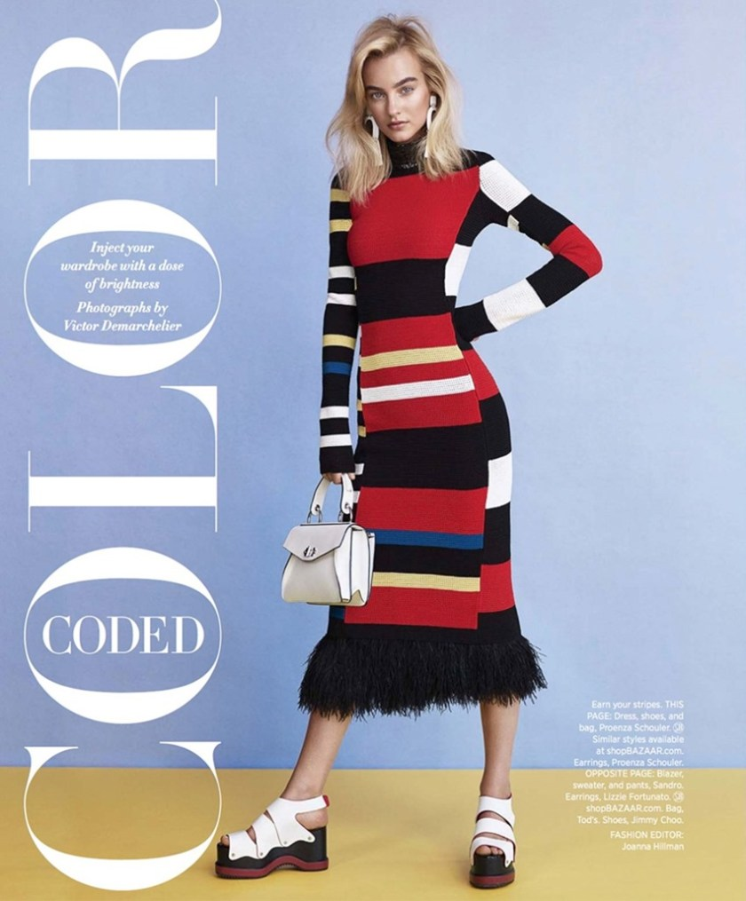 HARPER'S BAZAAR MAGAZINE Maartje Verhoef by Victor Demarchelier. Joanna Hillman, March 2017, www.imageamplified.com, Image Amplified3