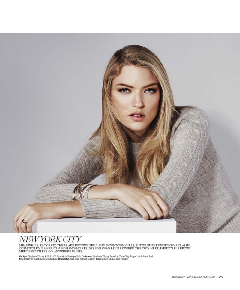 MARIE CLAIRE MAGAZINE Martha Hunt by Enrique Badulescu. Enrique Campos, March 2017, www.imageamplified.com, image Amplified3