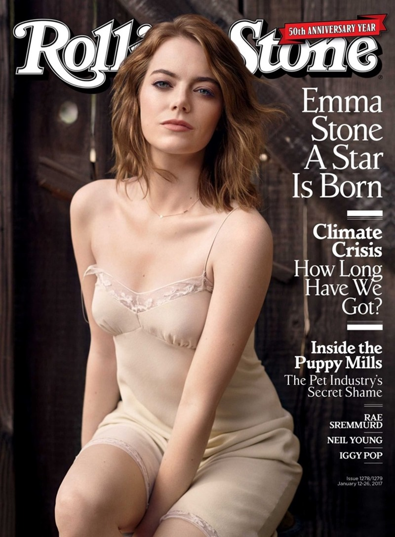 ROLLING STONE MAGAZINE Emma Stone by Mark Seliger. January 2017, www.imageamplified.com, Image Amplified2