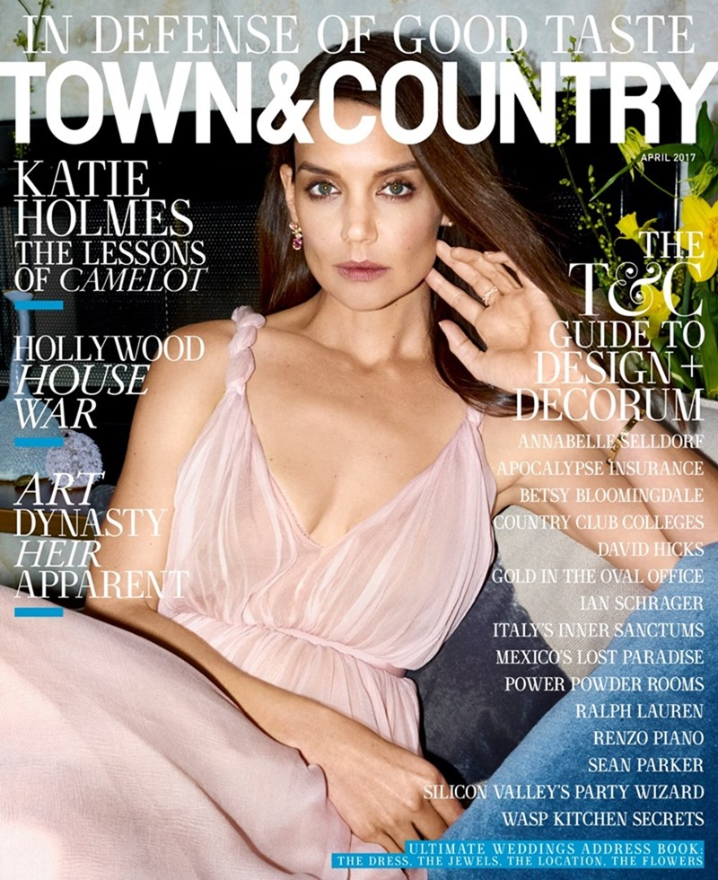 TOWN & COUNTRY MAGAZINE Katie Holmes by Cedric Buchet. Nicoletta Santoro, April 2017, www.imageamplified.com, Image Amplified5