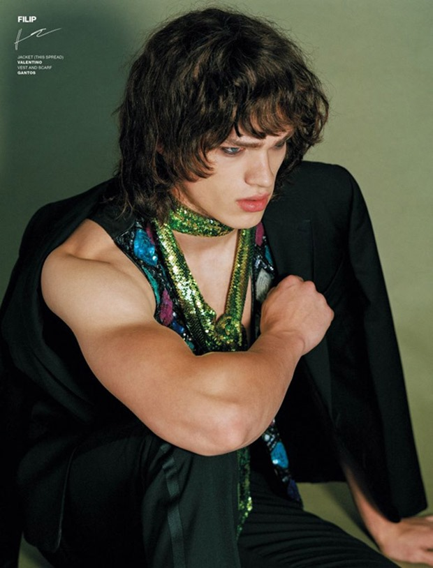 VMAN MAGAZINE Absolute Beginners by Bruce Weber. Paul Cavaco, Spring 2017, www.imageamplified.com, Image Amplified4
