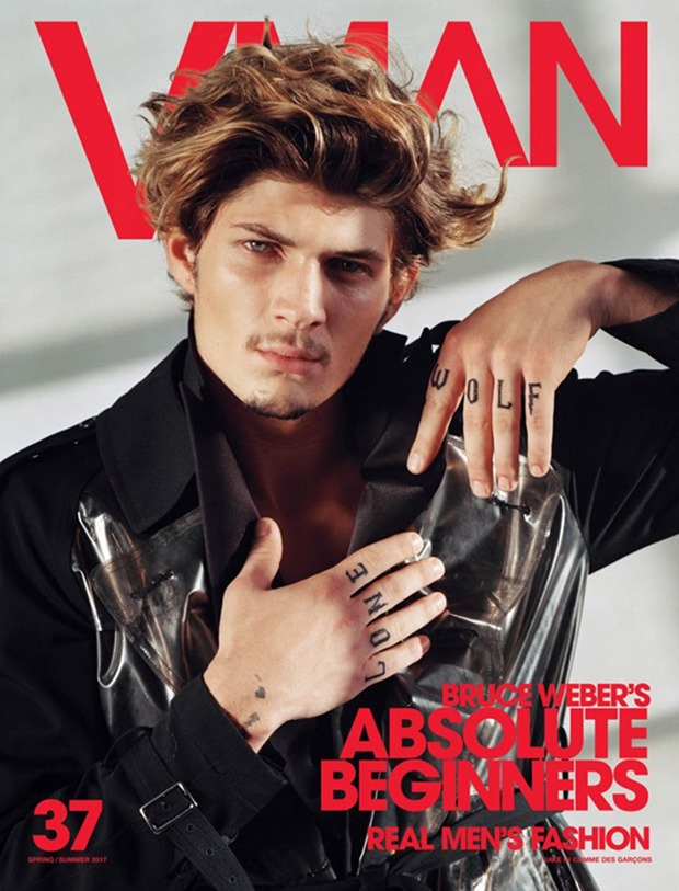 VMAN MAGAZINE Absolute Beginners by Bruce Weber. Paul Cavaco, Spring 2017, www.imageamplified.com, Image Amplified16