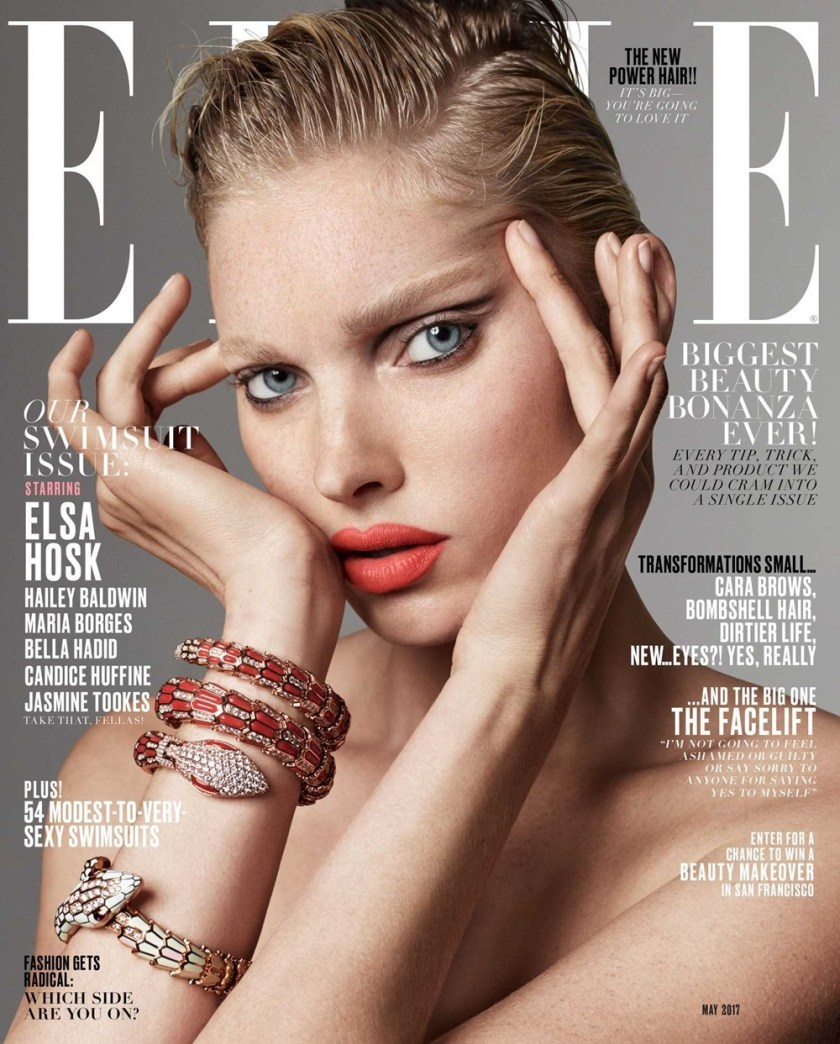 ELLE MAGAZINE Elsa Hosk by Terry Tsiolis. Samira Nasr, May 2017, www.imageamplified.com, Image Amplified1