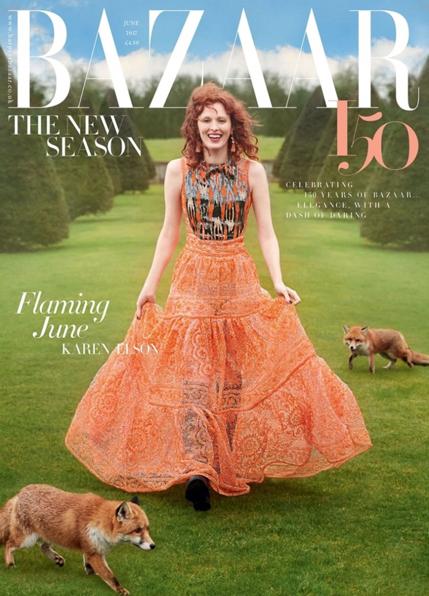 HARPER'S BAZAAR UK Karen Elson by Richard Phibbs. Miranda Almond, June 2017, www.imageamplified.comm, image Amplified1