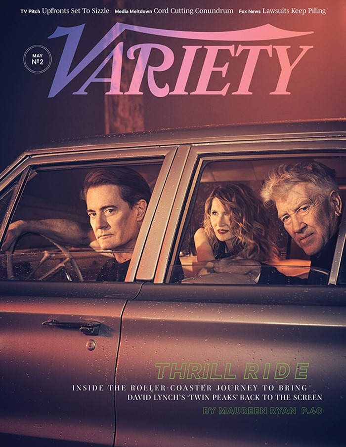 VARIETY MAGAZINE David Lynch, Laura Dern & Kyle MacLachlan by Kurt Iswarienko. May 2017, www.imageamplified.com, Image Amplified1