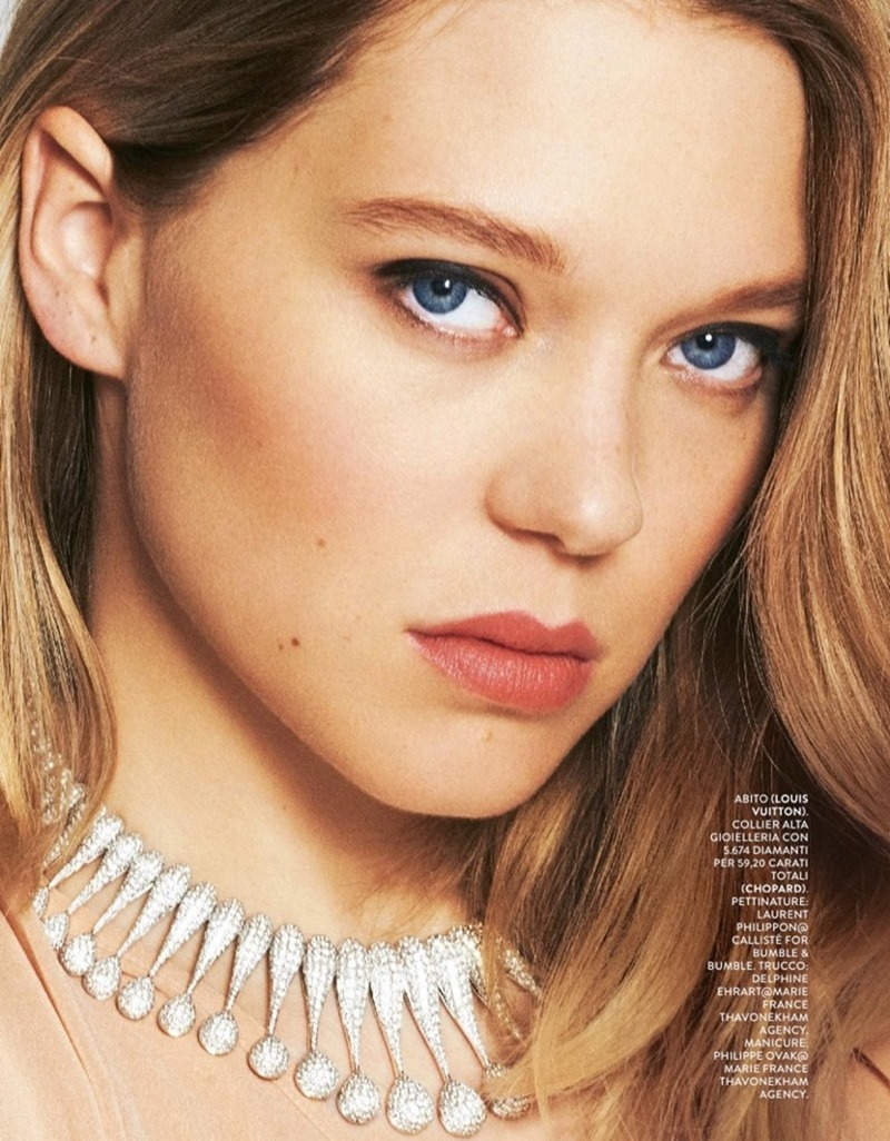 GRAZIA ITALIA Lea Seydoux by Tiago Banderaa. Michele Bagnara, May 2017, www.imageamplified.com, Image Amplified4