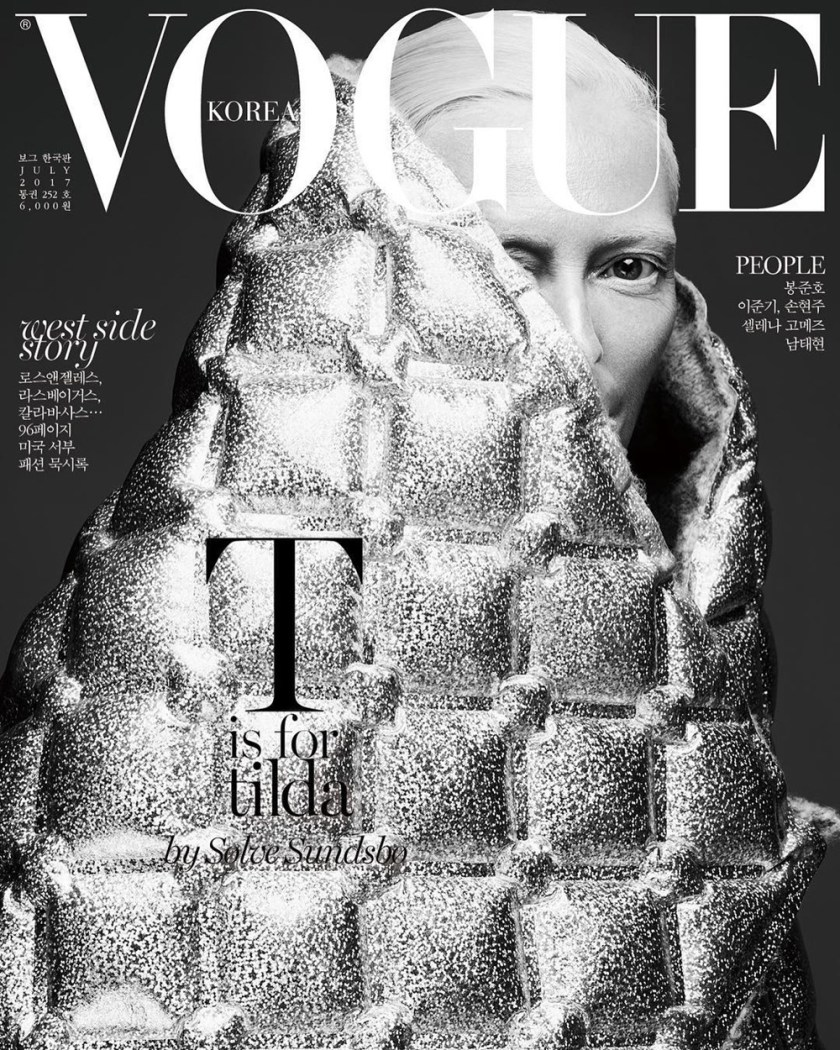 VOGUE KOREA Tilda Swinton by Solve Sundsbo. Jerry Stafford, July 2017, www.imageamplified.com, Image Amplified1