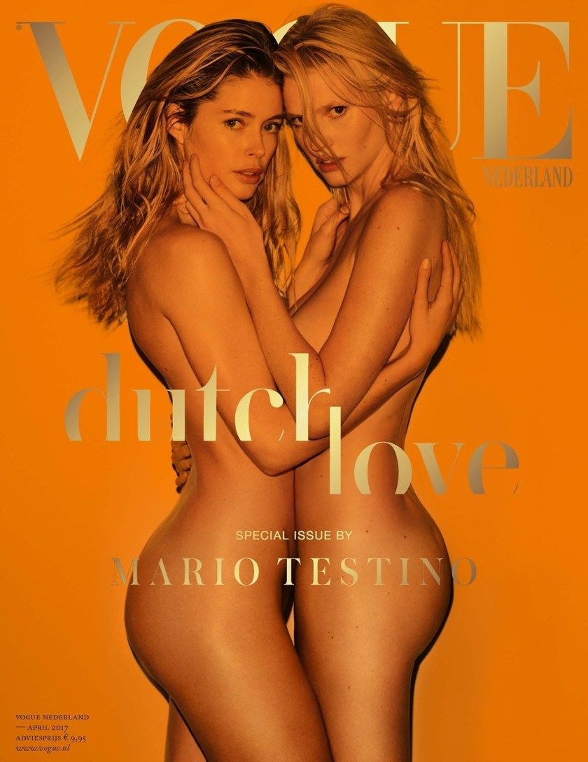 VOGUE NETHERLANDS Doutzen Kroes & Lara Stone by Mario Testino. George Cortina, April 2017, www.imageamplified.com, Image Amplified2