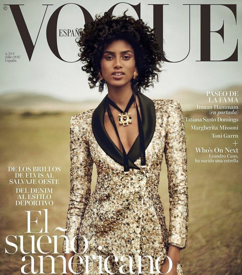 VOGUE SPAIN Imaan Hammam by Boo George. Sara Fernandez Castro, July 2017, www.imageamplified.com, Image Amplified2