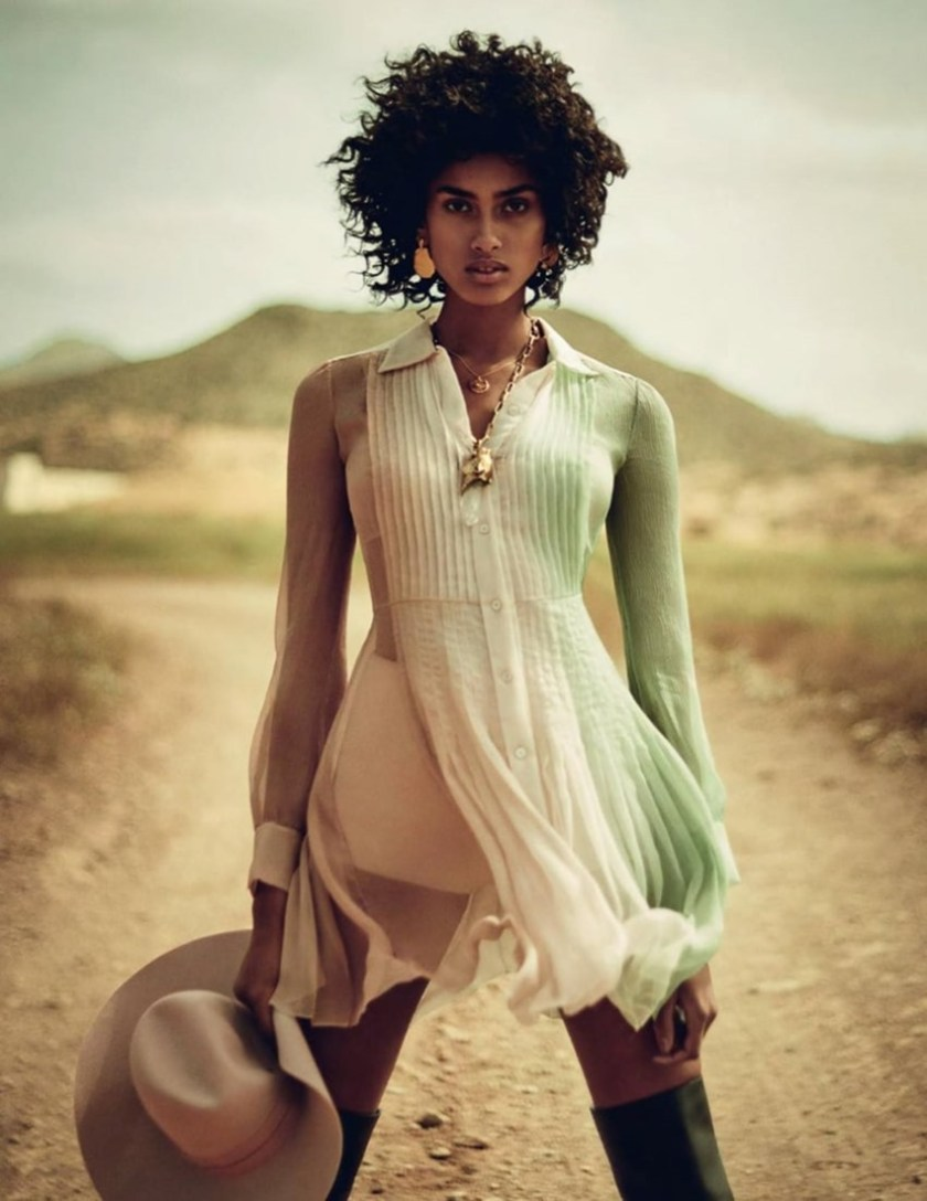 VOGUE SPAIN Imaan Hammam by Boo George. Sara Fernandez Castro, July 2017, www.imageamplified.com, Image Amplified7