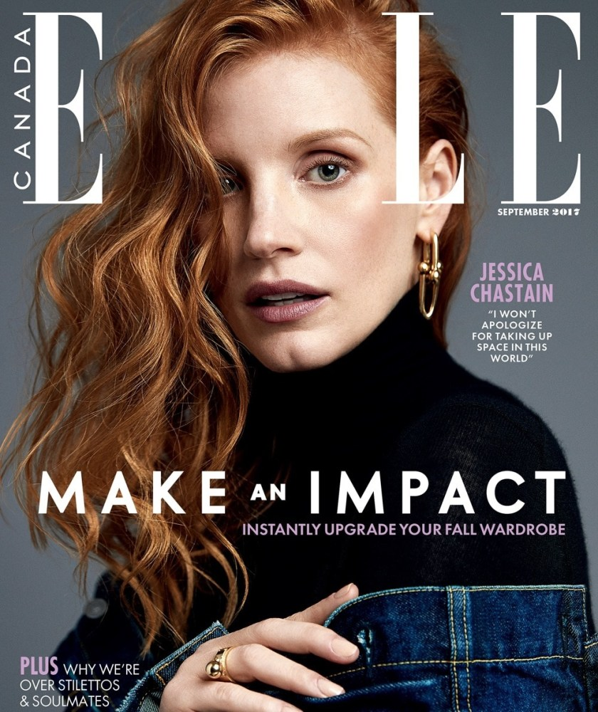 ELLE CANADA Jessica Chastain by Max Abadian. Anna Katsanis, September 2017, www.imageamplified.com, Image Amplified2