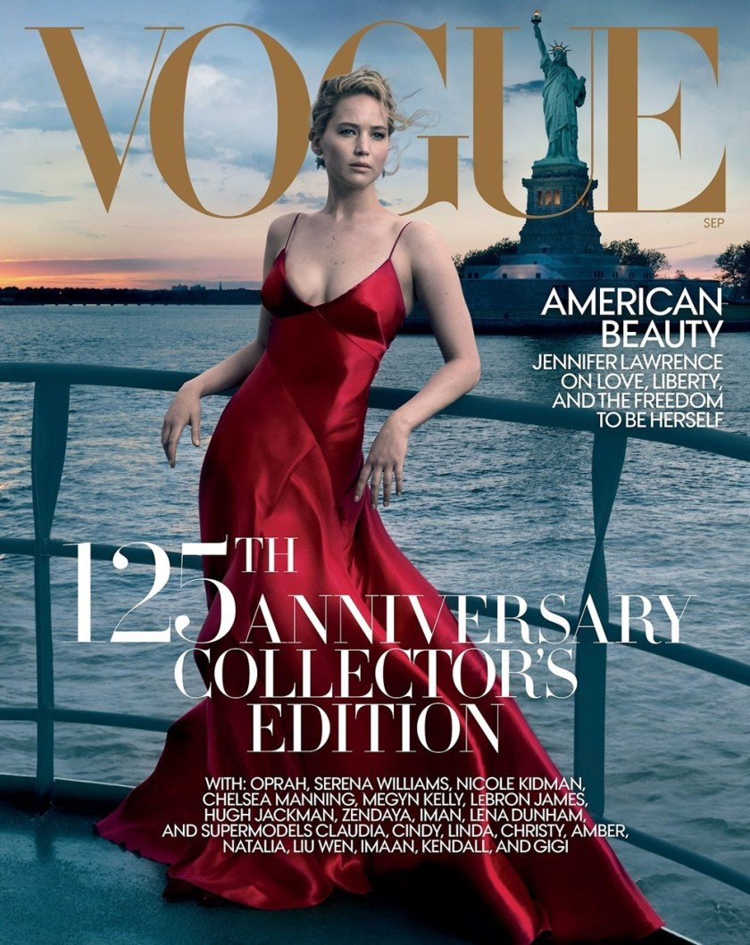 VOGUE MAGAZINE Jennifer Lawrence by Rob McKeever, Annie Leibovitz, Bruce Weber, Inez & Vinoodh. September 2017, www.imageamplified.com, Image Amplified3