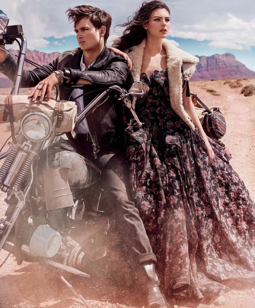 VOGUE MAGAZINE Vittoria Ceretti & Ansel Elgort by Mario Testino. Camilla Nickerson, September 2017, www.imageamplified.com, Image Amplified1