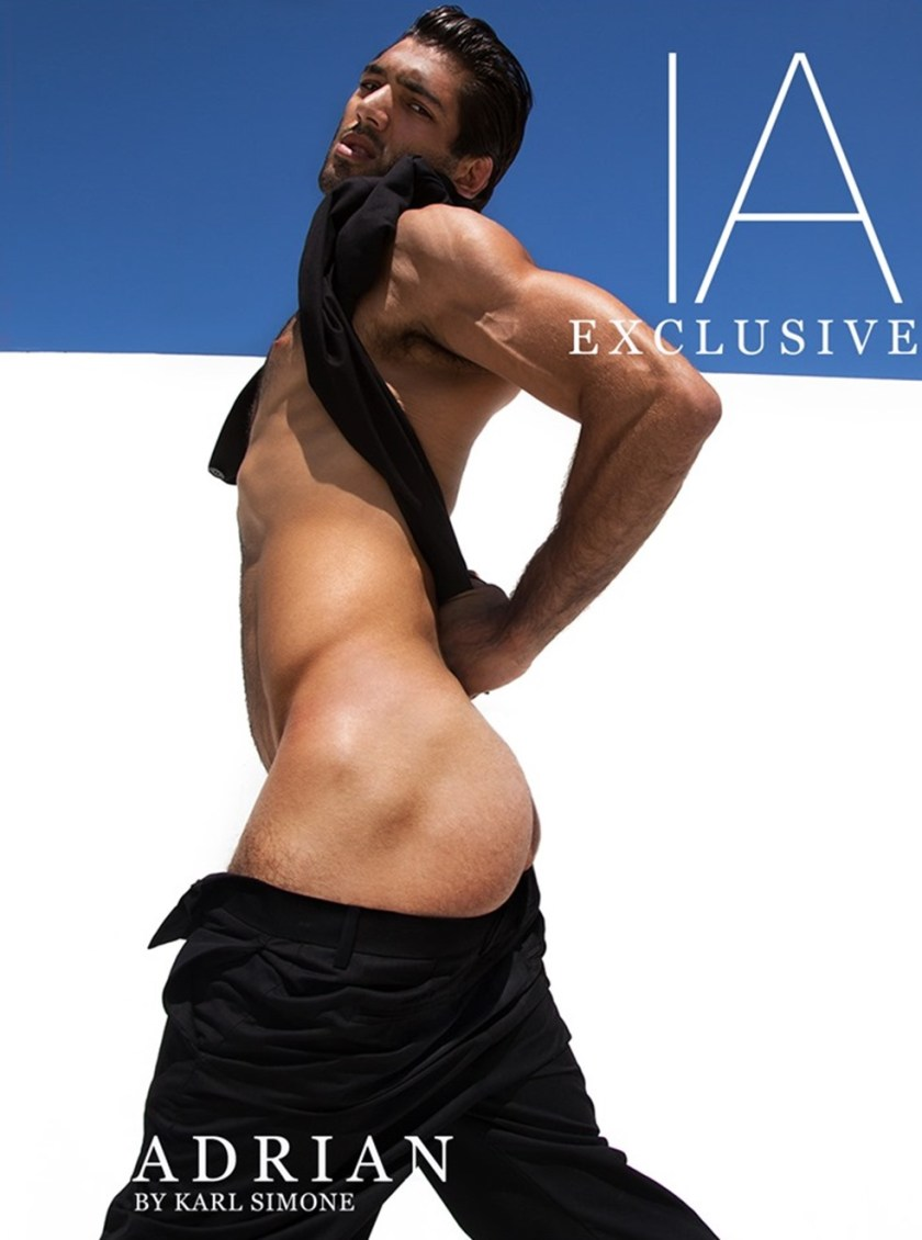 IMAGE AMPLIFIED EXCLUSIVE Adrian Waldo in The Little Black Suit by Karl Simone. Fall 2017, www.imageamplified.com, Image Amplified