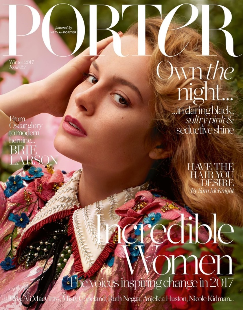 PORTER MAGAZINE Brie Larson by Camilla Akrans. Julia von Boehm, Winter 2017, www.imageamplified.com, Image Amplified1