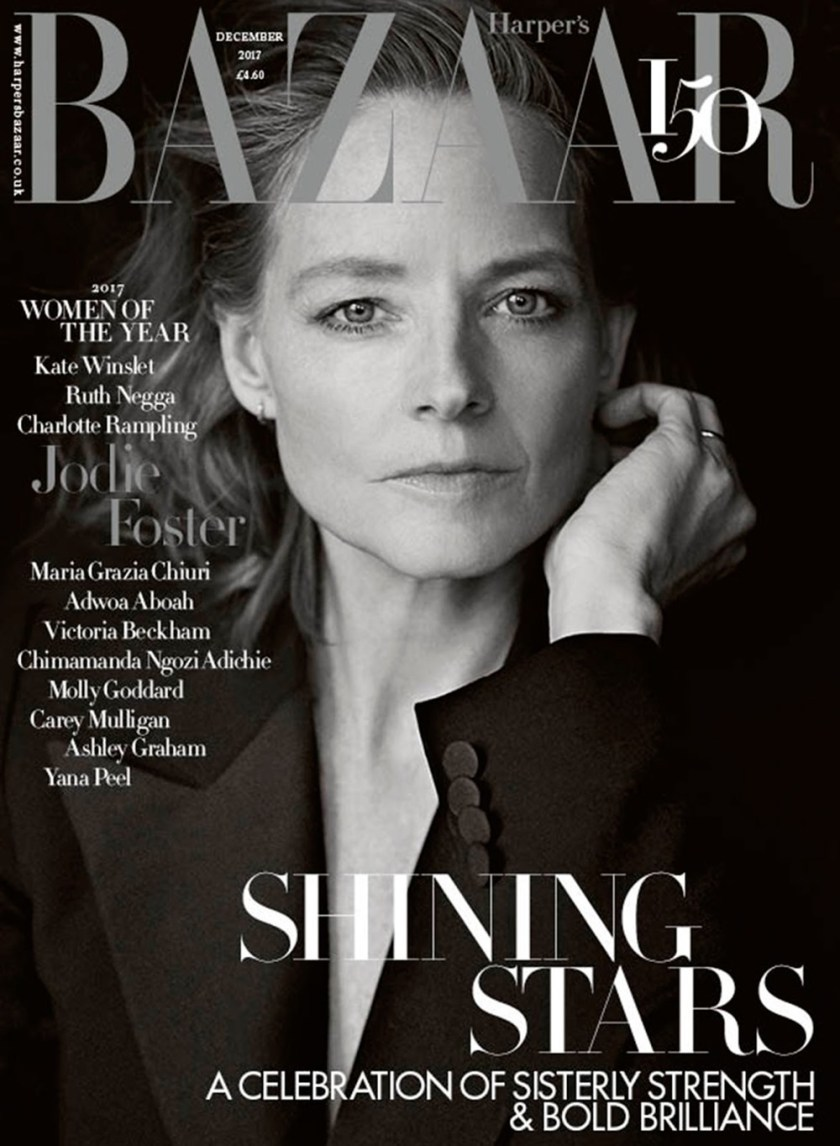 HARPER'S BAZAAR UK Jodie Foster by Richard Phibbs. Miranda Almond, December 2017, www.imageamplified.com, Image Amplified1