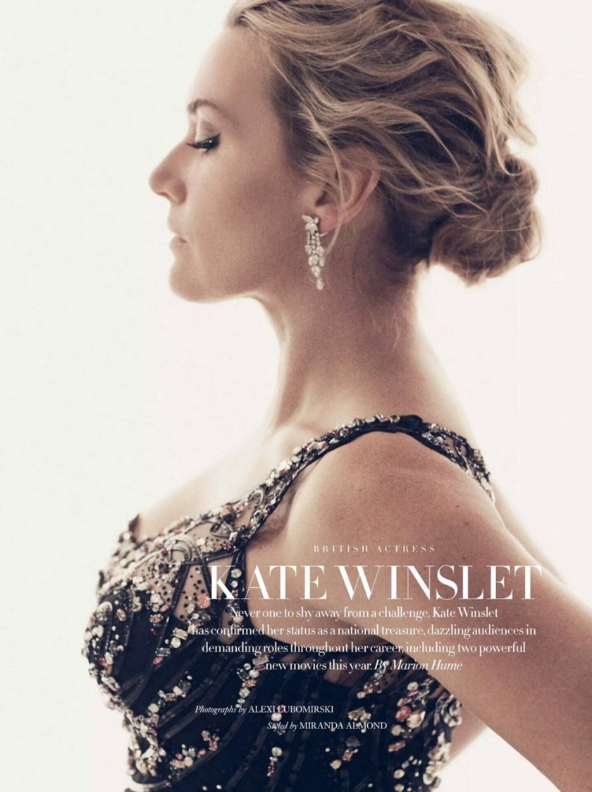 HARPER'S BAZAAR UK Kate Winslet by Alexi Lubomirski. Miranda Almond, December 2017, www.imageamplified.com, Image Amplified9