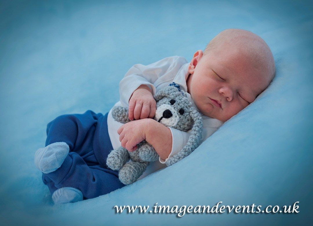 Newborn baby fine art image from Peterborough studio photographer