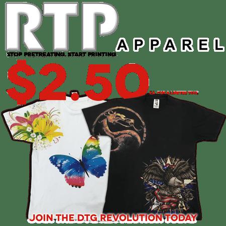 Image Armor Partner RTP Apparel Starts a DTG Revolution