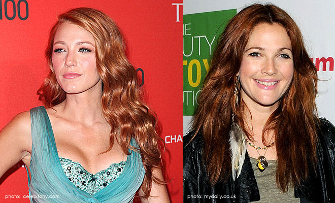 Blake Lively and Drew Barrymore go for Red