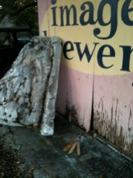 Rotten wood to be removed.