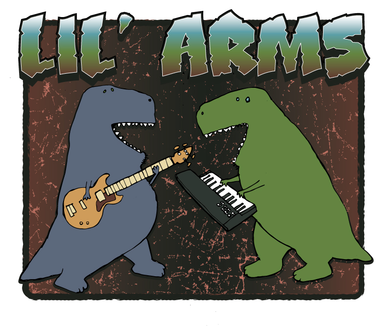 Lil' Arms - Band Graphic for a musical project.