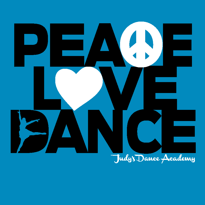PeaceLoveDance.blue.shirts